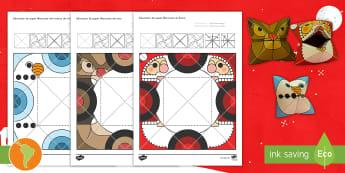 Modelo de papel: Adivinadores de los personajes de Navidad - navidad, adivinadores, modelos de papel, personajes de navidad, manualidad, español