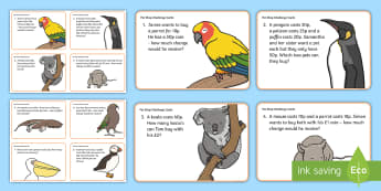 Pet Shop Themed Maths Problems KS1 Challenge Cards - Pet Shop Themed Maths Problems KS1 Challenge Cards - pets, animals, aniamls, petsd, maths problems,