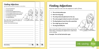 KS3 SEN Finding Adjectives Differentiated Activity Sheets -  - Finding Verbs Activity Sheet - finding, verbs, activity, sheet, verbsw, verbss, Grammar, sentence st