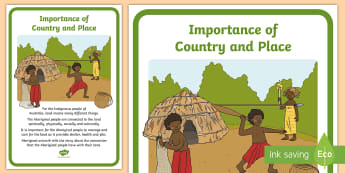 Importance of Country and Place Display Poster - ACHASSK062, History, Australia, Australian, Aboriginal, Indigenous