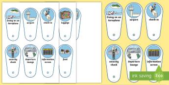 Going on an Aeroplane Communication Fan - plane visual support, aeroplane visual support, going on holiday, airport, flight, visual timetable