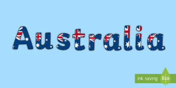 Australia Flag Themed Title Display Lettering - australian flag, australia, themed, title, display lettering