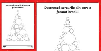 Brad din cercuri Decorează - Christmas, Crăciun, Moș Crăciun, decorație, cerc, joc, arte, sărbători, sărbătoare, material