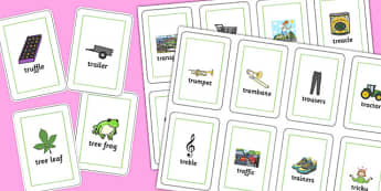 Two Syllable TR Playing Cards - two syllable, tr, playing cards