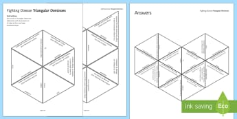 Fighting Disease Tarsia Triangular Dominoes - Tarsia, gcse, biology, disease, pathogens, immunity, immune system, immune, vaccine, vaccination, mi, plenary activity