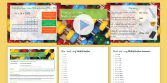 KS3, Half Term 1: Number, Lesson Pack 14: Short and Long Multiplication - rounding, multiplication, long, short, maths, ks3, estimate, approximation, methods, multiply