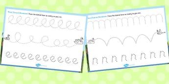Ugly Duckling Pencil Control Sheets - control, pencil, ugly, duck