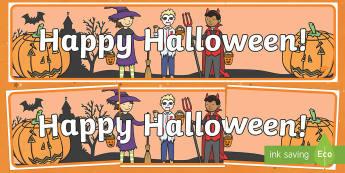 Happy Halloween! Display Sign