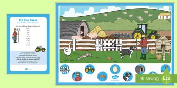 EYFS On the Farm Can You Find...? Poster and Prompt Card Pack