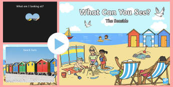 What Can You See? Seaside Powerpoint Game - what can you see? seaside, powerpoint, seaside powerpoint, seaside game, what is it, hide and reveal