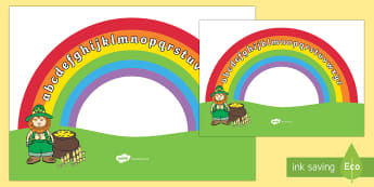 Rainbow Alphabet Arc - Alphabet Arc, mat, rainbow, DfES Letters and Sounds, Letters and sounds, Letters A-Z, Learning Letters, Phase one, Phase 1 Foundation Letters, Mnemonic images