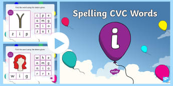 CVC Words I Spelling PowerPoint - CVC Words I Spelling PowerPoint - CVC words, spellings, powerpoint, cvcwords, speeling, cvc wods, sp