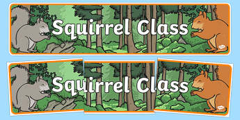 Squirrel Themed Classroom Display Banner - Themed banner, banner, display banner, Classroom labels, Area labels, Poster, Display, Areas
