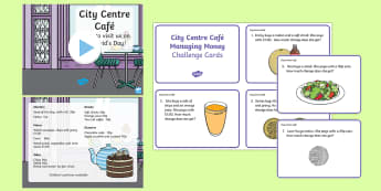 City Centre Cafe Year 1 Numeracy - Dewi Sant, St David's Day, st davids day, st david's day, manage money, real life maths, st david,