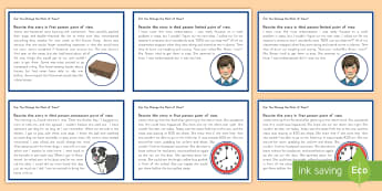Point of View Task Cards - Perspective, 1st person, 3rd person, Task Cards, Writing, Journal, Writing Centers, Centers, Languag