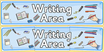 Writing Area Display Banner - writing area, display banner, display