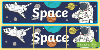 Space Display Banner - reading area, book area, book corner, books, reading, library, reading corner, space, aliens, astron