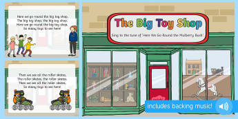 The Big Toy Shop Song PowerPoint - EYFS, Early Years, Toys, teddy bear, music, singing, songs