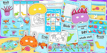 Resource Pack to Support Teaching on Sharing a Shell - story books, stories, story, pack