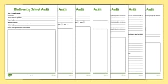 Biodiversity School Audit Activity Sheet - biodiversity, school, audit, activity sheet, action plan, green schools, worksheet