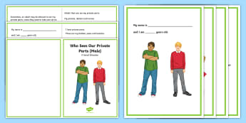 Who Sees Our Private Parts (Male) Social Story - puberty, body safety, autism, social story, social stories,