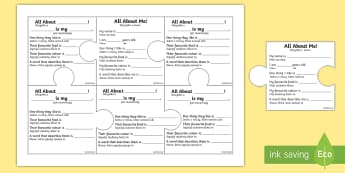 All About Me and My Family Jigsaw Puzzle Activity English/Polish -  Back to school, PSHE, getting to know you, all about me.,Polish-translation