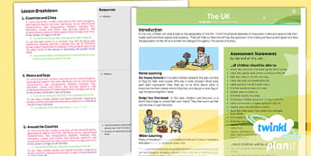 Geography: The UK Year 3 Planning Overview