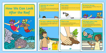 How We Can Look After the Reef Posters - look after, how, great barrier reef, coral bleaching, posters