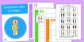Dicționar cu imagini - Cartonașe cu meserii