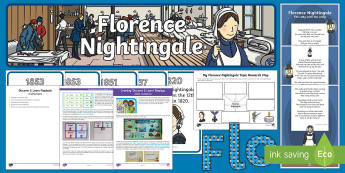 Florence Nightingale Discover and Learn Display Pack - Florence nightingale, victorian, hospitals, then and now, nurse, doctor