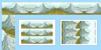 Mountains Display Border - mountains, display border, display