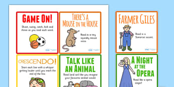 Reading Aloud Activity Cards - reading, reading aloud, activities