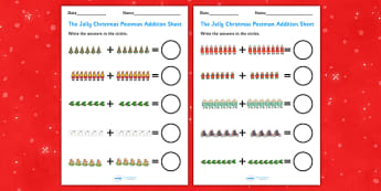 Up to 20 Addition Sheets to Support Teaching on The Jolly Christmas Postman - the jolly christmas postman, addition sheets, the jolly postman addition sheets, addition