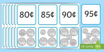 Money Matching Cards to $1 Coins Game - Canada, Maths, canada, coins, money, currency, canadian coins, canadian money, cents, Canadian