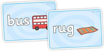 CVC Basic Playdough Mats U - cvc word playdough mats, cvc u words, cvc u word playdough mats, basic literacy playdough mats, sen playdough mats, u words