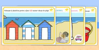 Vara - Planșete pentru modelajul cu plastilină - Vara,Planșe pentru modelat - vară, mare, litoral, la mare, vacanță, vocabular, anotimpuri, siguranța la soare, expunere solară, materiale didactice, română, romana, material, material didactic