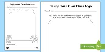 Design Your New Class Logo Activity Sheet - New Class Transition Ideas