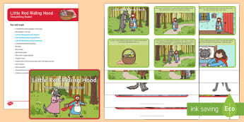 Little Red Riding Hood Storytelling Basket - EYFS, story, reading, literacy, books, traditional tale, reading area, reading buddies, story props