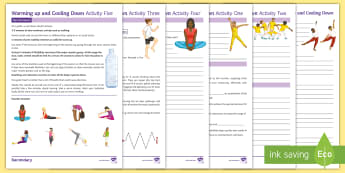 Warming Up and Cooling Down in Dance Activity Pack - dance, GCSE Dance, Btec Dance, warming up, dance cool downs