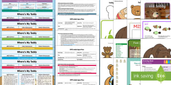 EYFS Lesson Plan, Enhancement Ideas and Resource Pack to Support Teaching on Where's My Teddy? - planning, Early Years, early years planning, continuous provision, adult led, Where's My Teddy, Jez Alborough, teddy bear, teddy, bears, woods, forest