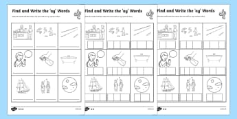 Find and Write the ay Words Differentiated Worksheet / Activity Sheets - Phonics activity, phase 3, letters and sounds, ai sound, find the sound, sort the pictures, write th