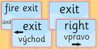 Directions and Safety Signs EAL Slovak Version - languages, EAL