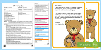 EYFS Bear on Holiday Adult Input Plan and Resource Pack - EYFS Number ELG, mathematics, early years, EYFS Planning, Adult led, halving, half, halve, find, hel
