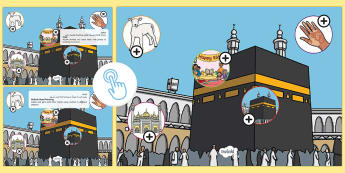 KS1 Eid al Adha Picture Hotspots Arabic/English - Muslim, festival ,Islam, RE, celebration,Arabic-translation