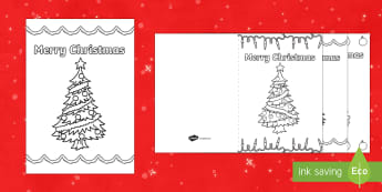 Christmas Trees Colouring in Christmas Cards