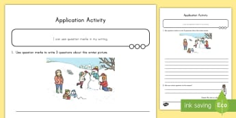 Question Marks Application Activity - question marks, application, literacy, punctuation, grammar