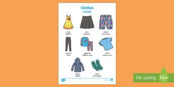 Clothing Language Activity Te Reo Māori/English - Clothing Language Activity, Ngā Kākahu, Summer Clothing, Te Reo Māori, Reference Page