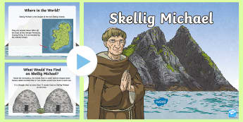 Skellig Michael PowerPoint - ROI - The World Around Us - Skellig Islands, Skellig Michael, monastery, monks, Kerry, clochain, bee