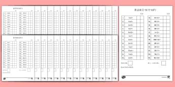12以内乘除法练习集 - 乘法,除法,12,数学,练习集