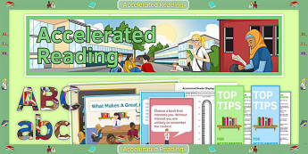 Display Pack to Support the Teaching on Accelerated Reader - English, KS3, KS2, Reading, Accelerated Reader, Accelerated Reading, Incentive, Display, Library